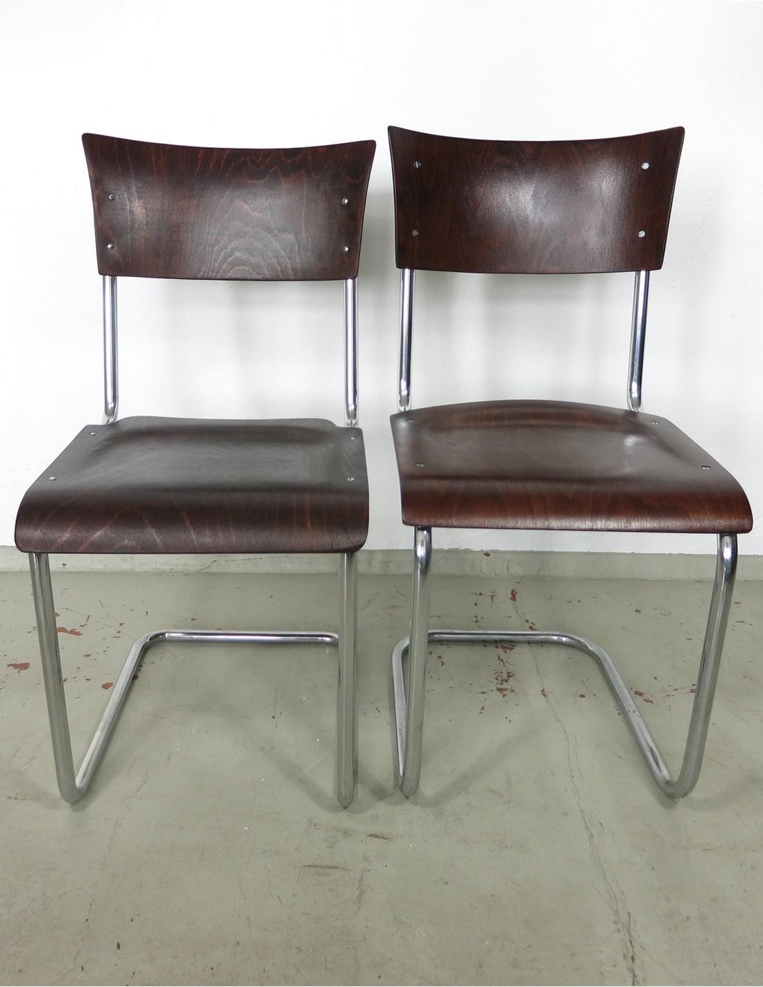 Stahlrohr Freischwinger Stuhl von Mart Stam